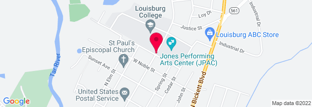 Map for Louisburg College