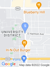 University of Nevada Las Vegas map
