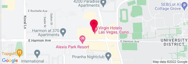 Map for The Joint, Hard Rock Hotel & Casino
