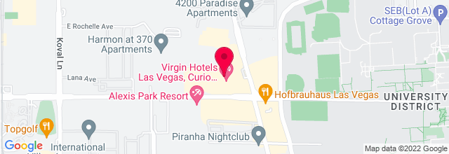 Map for Hard Rock Hotel & Casino - The Joint