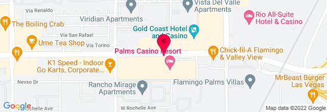 Map for Lounge, Palms Casino & Resort