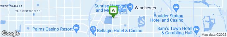Map of ENVY The Steakhouse at The Renaissance Las Vegas