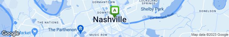 Map of Bb Kings Nashville