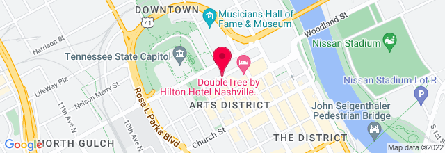 Map for James K. Polk Theater, Tennessee Performing Arts Center