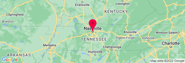 Map of Nashville, TN, US