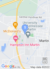 University of Tennessee Martin map