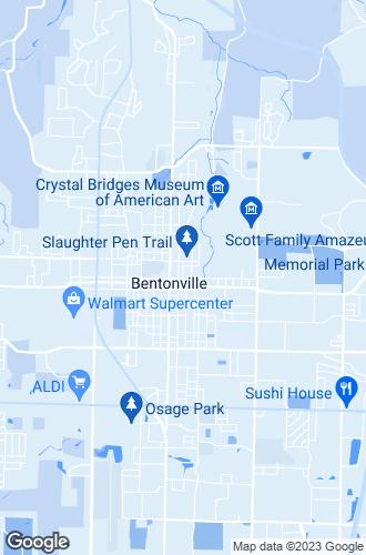 Map of Bentonville