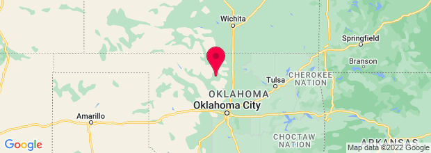 Map of Enid, OK, US