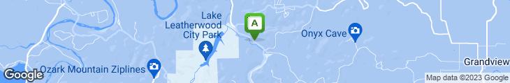Map of Gaskin's Cabin Steakhouse