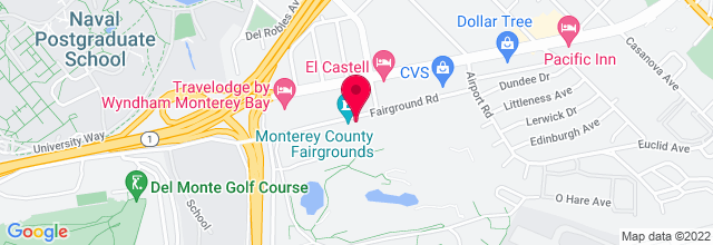 Map for Monterey County Fair & Event Center