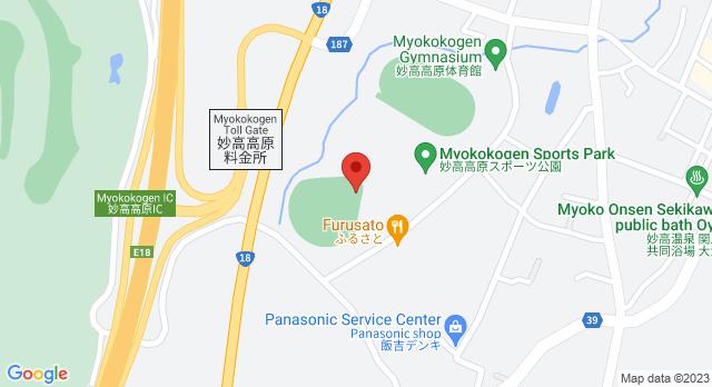 妙高高原体育館への地図