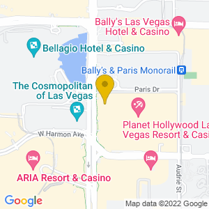 Map to Axis - Planet Hollywood provided by Google