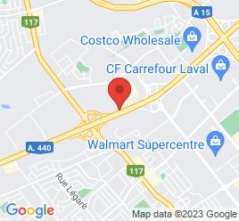 Google Map of 3670+Autoroute+440%2CLaval%2CQuebec+H7T+2H6