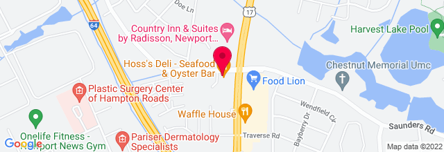 Map for Hoss's Deli