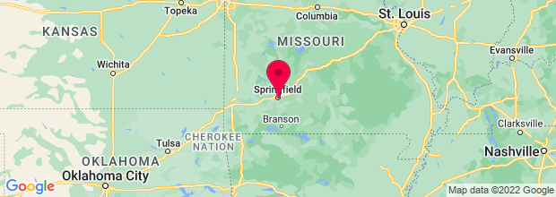 Map of Springfield, MO, US