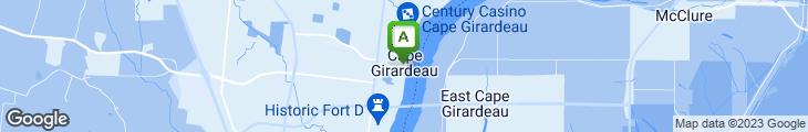 Map of Broussard's Cajun Cuisine