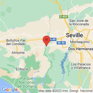 Map - Traditional stately manor house, cortijo, hacienda with stables near Sevilla, Aznalcazar