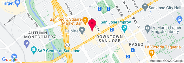 Map for Theatre on San Pedro Square