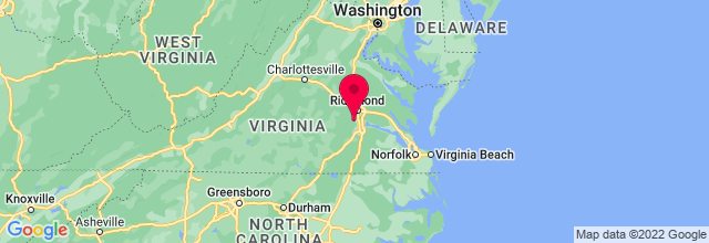 Map of Chesterfield, VA, US