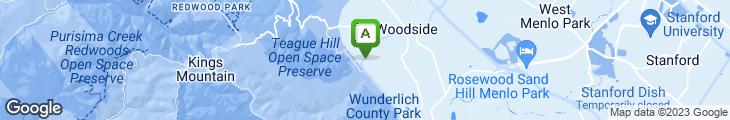 Map of Buck's Of Woodside