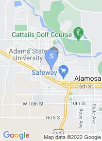 Adams State College map