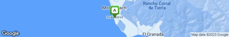 Map of Moss Beach Distillery