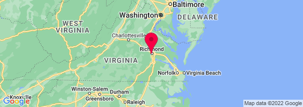 Map of Richmond, VA, US