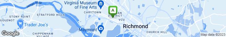 Map of Six Burner Restaurant
