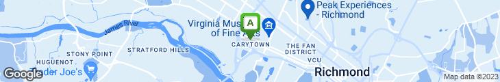 Map of Mary Angela's Pizzeria
