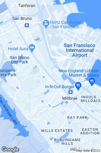 Map of Millbrae