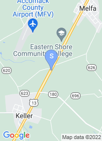 Eastern Shore Community College map