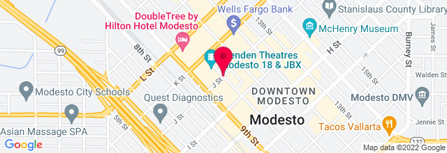 Map for Downtown Modesto