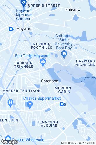 Map of Hayward