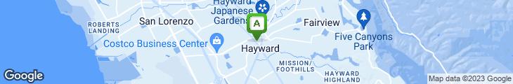Map of Hayward Japan Grill