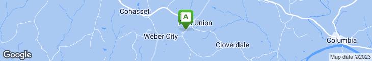 Map of Fork Union Village Restaurant