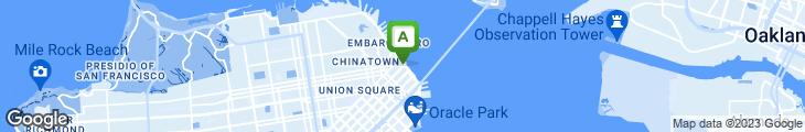 Map of Americano Restaurant & Bar