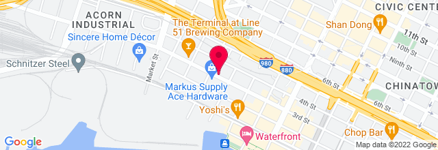 Map for Oakland Metro Operahouse