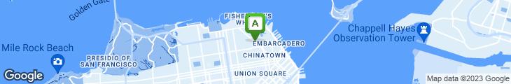 Map of North Beach Restaurant