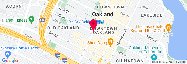 Map for Downtown Oakland