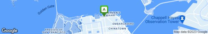 Map of Restaurant Gary Danko
