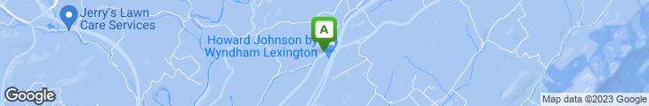 Map of Aunt Sarah's Pancake House