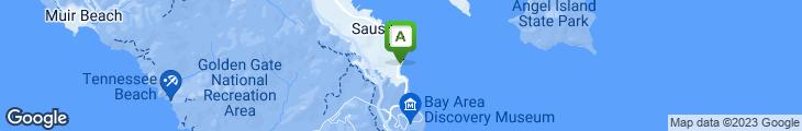Map of Gaylord India Restaurant - Sausalito