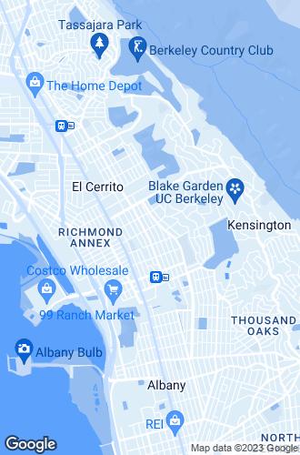 Map of El Cerrito