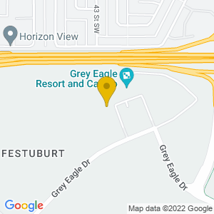 Map to Grey Eagle Resort & Casino provided by Google