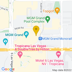 Map to Garden Arena - MGM Grand Hotel & Casino provided by Google