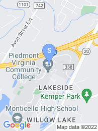 Piedmont Virginia Community College map