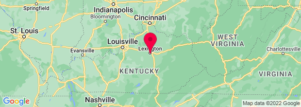 Map of Lexington, KY, US
