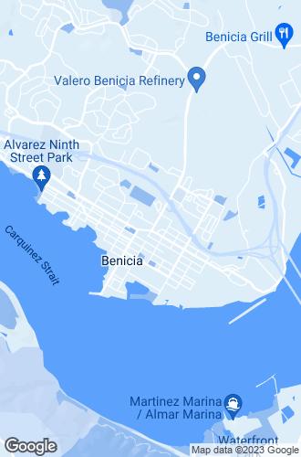 Map of Benicia