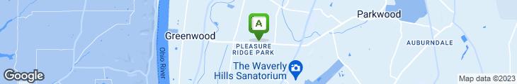 Map of Pleasure Ridge Pizza