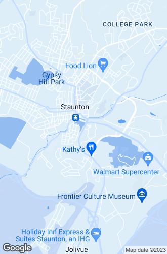 Map of Staunton